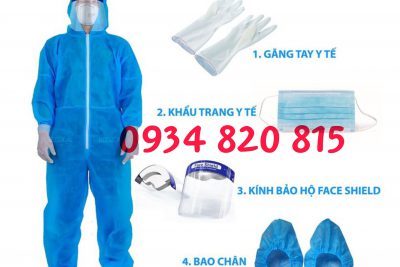 Bộ combo bảo hộ y tế chống covid bao gồm kính chắn giọt bắn giá rẻ tại Đà Nẵng