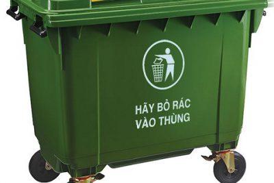 Thùng rác nhựa HDPE – COMPOSITE 660 Lít
